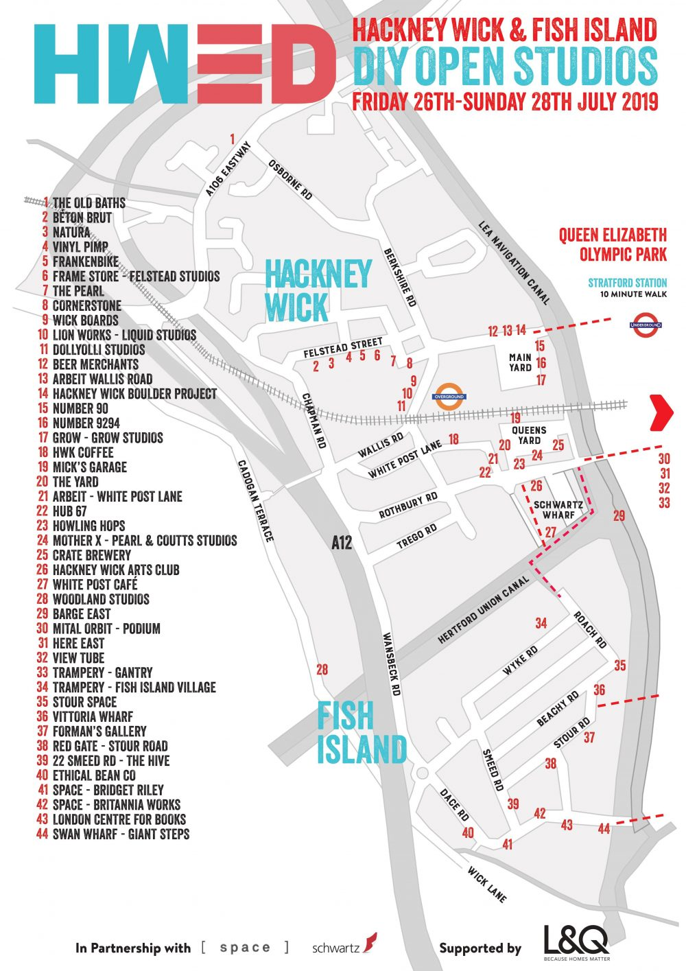 Lanu Varvaro Open Studio at Britannia Works Map