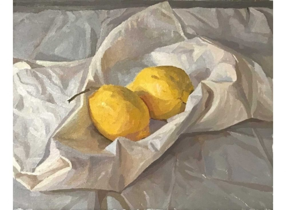 Martin Francis Two Lemons on a Tote Bag