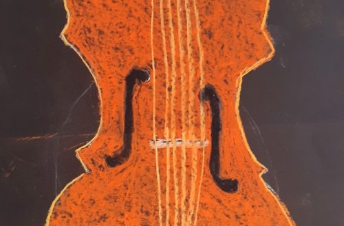 "Daily Creative by Linda Freedman ""The Ancient Violin Instrument is What Comes to Mind When I Think of Bach"""