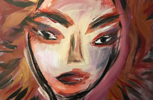 "Daily Creative by Zaklina Anderson ""Face No 1""  Acrylic on Canvas"