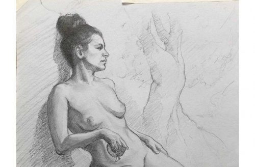 Jack Ford Life Drawing Eve figure study