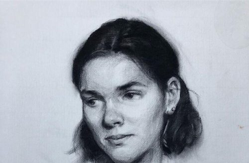 Jack Ford Portraiture Drawing of Elle